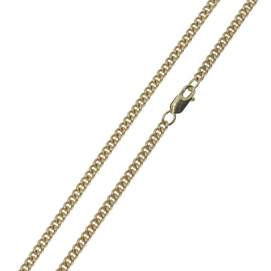 Yellow Gold Curb Chain 22