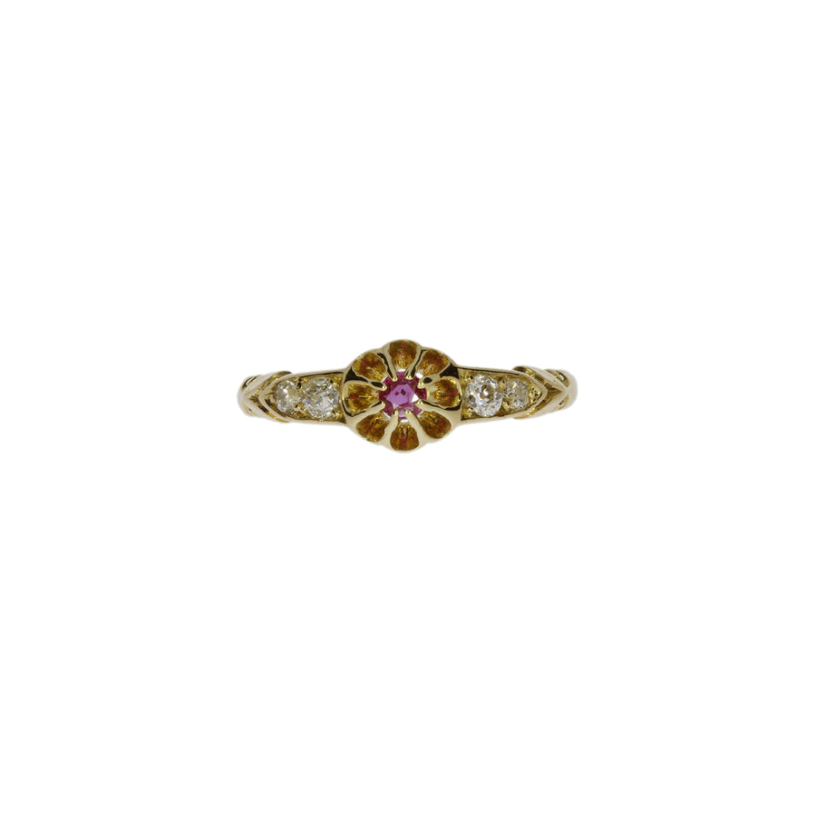Antique Ruby & Diamond Ring