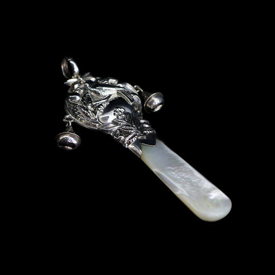 1920s Silver & Mother of Pearl Rattle