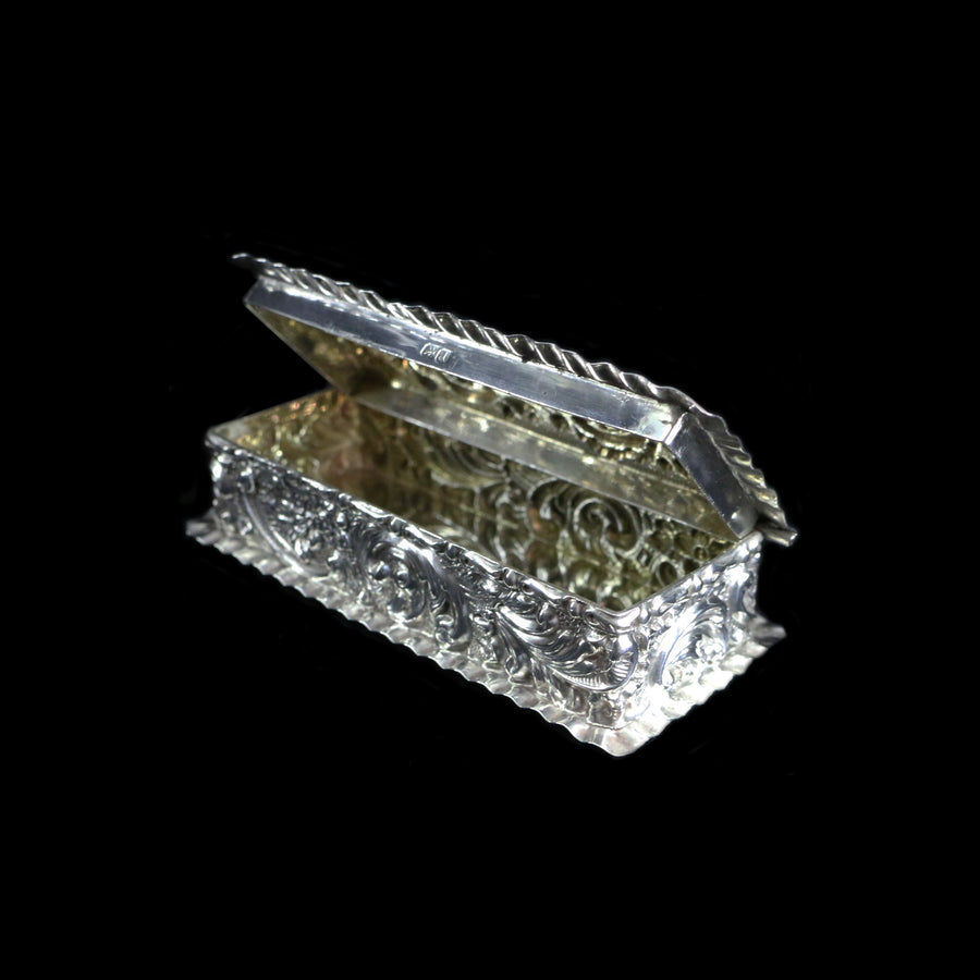 Antique Chester Silver Trinket Box