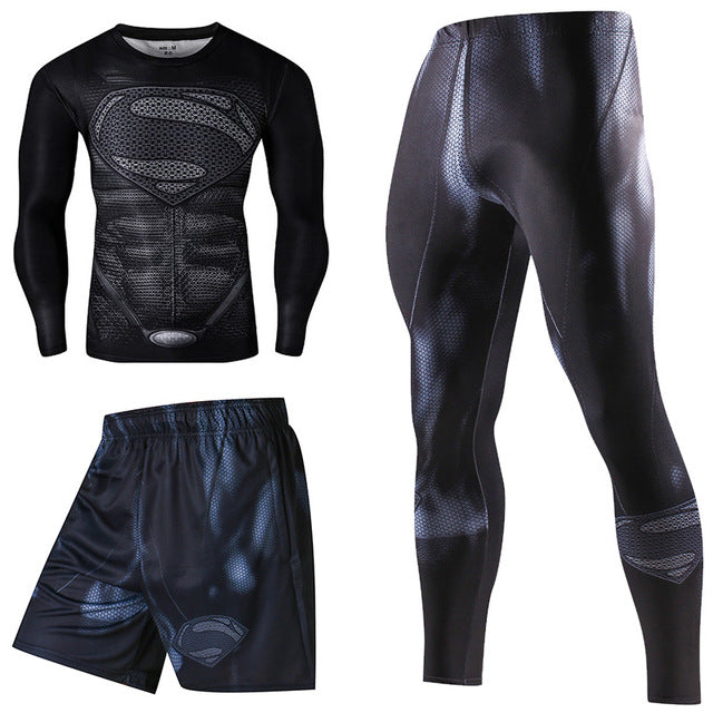 KIT SPORT SUPERMAN NEGRO