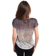Double Trouble Black Leopard Graphic Top