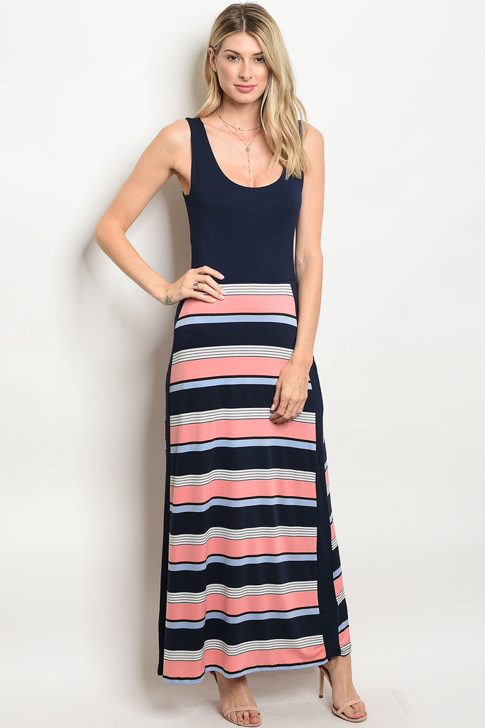Let Your Light Shine Maxi Dress Navy
