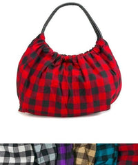 Plaid Purse Hobo Handbag Various Colors