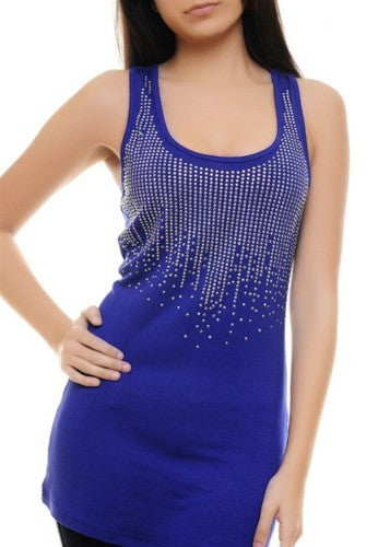 Royal Blue Studded Tank Top