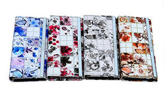 Chic White Floral Print Faux Leather Clutch Wallet