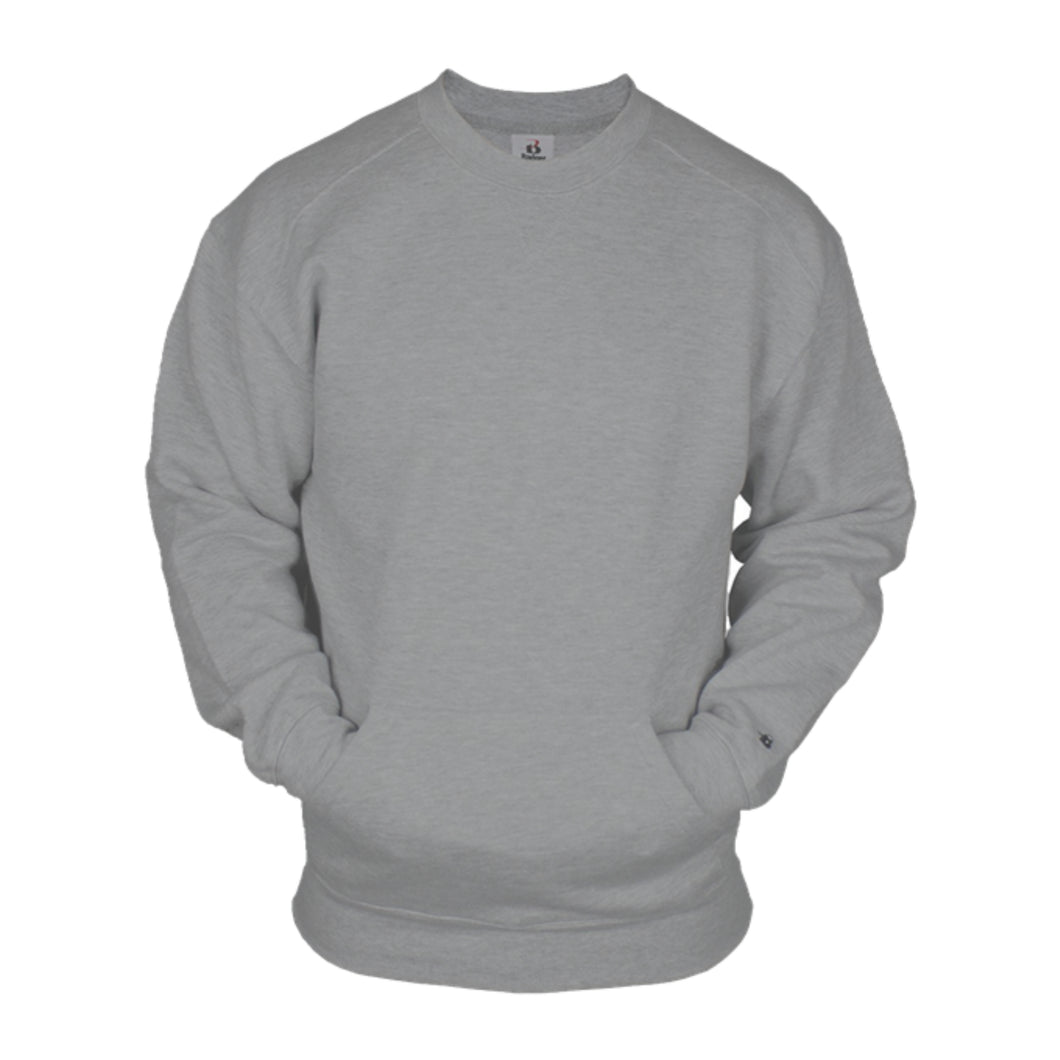 1252-Badger Crew Sweatshirt with front pocket
