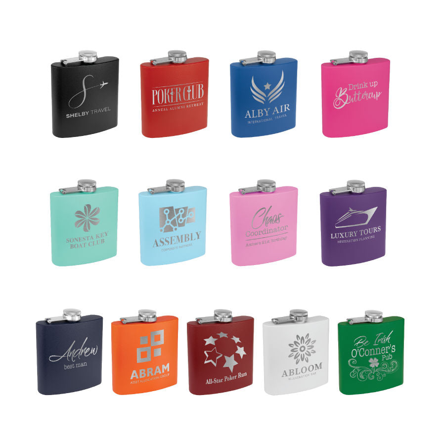 Powder Coated Stainless Steel Flask