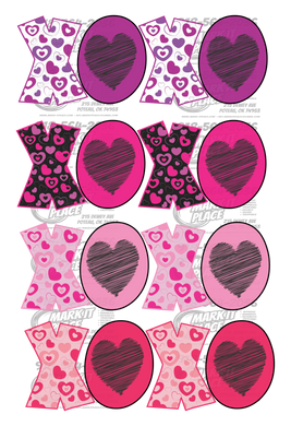 Hugs and Kisses - 4 Options use as a single or together PNG