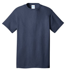 Port & Company® Core Cotton Tee- PC54 Heather Navy Printed 1 Color