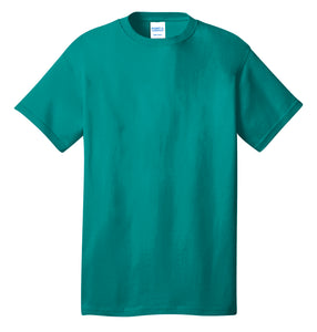 Port & Company® Core Cotton Tee- PC54 Bright Aqua Printed 1 Color