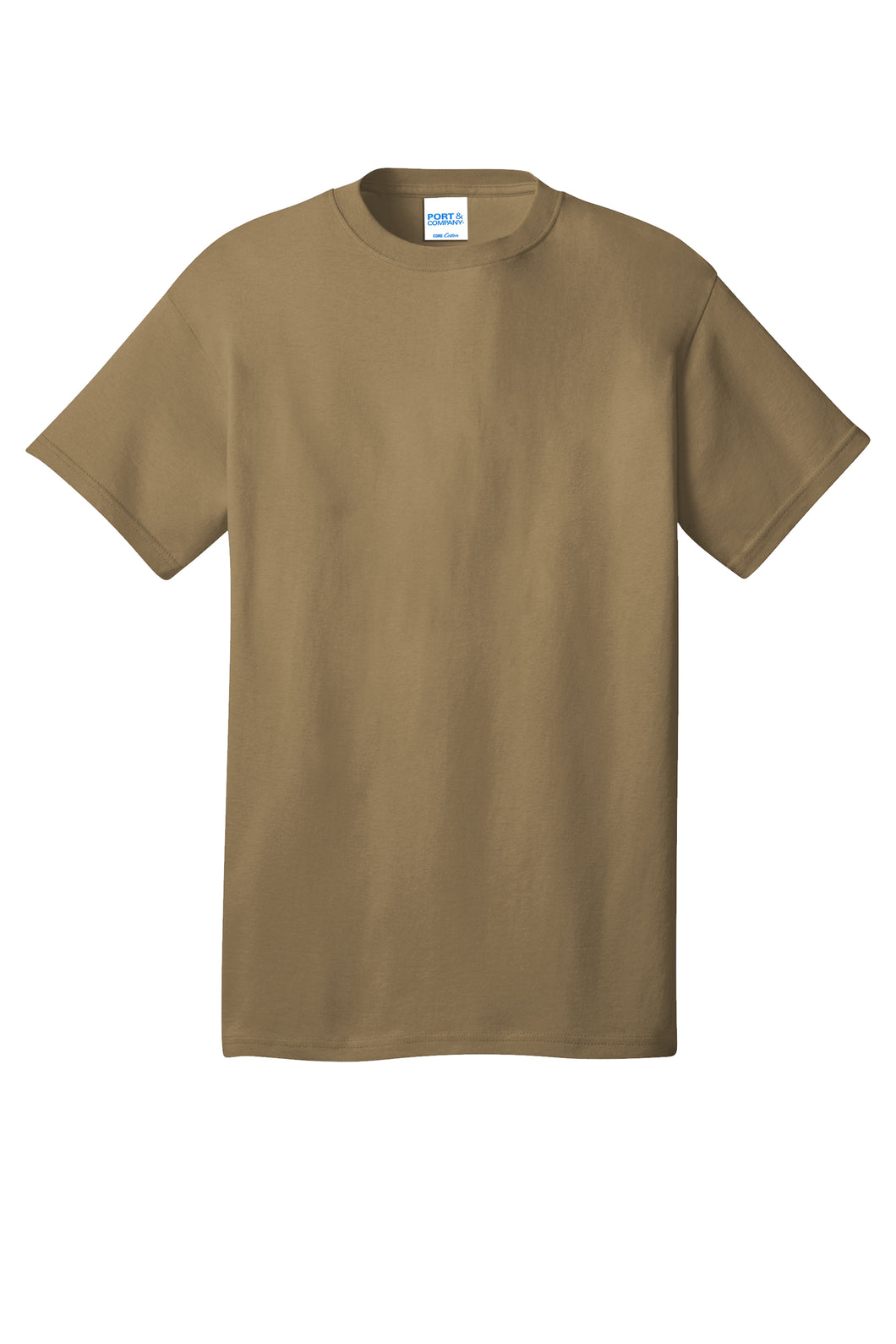 Port & Company® Core Cotton Tee- PC54 Coyote Brown Printed 1 Color