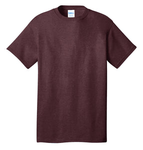 Port & Company® Core Cotton Tee- PC54 Heather Athletic Maroon Printed 1 Color