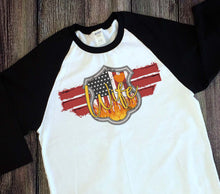 Load image into Gallery viewer, Red Line Raglan Sleeve