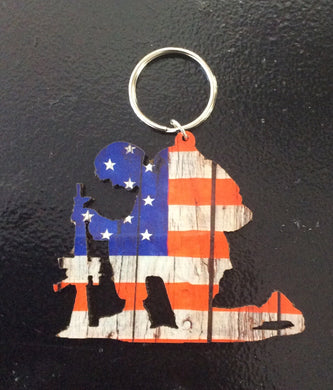 Key chain - kneeling soldier ran