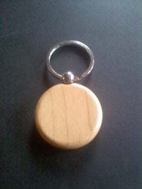 Wood Round Keychain - custom design