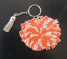 Load image into Gallery viewer, Glitter Pom Pom key fob
