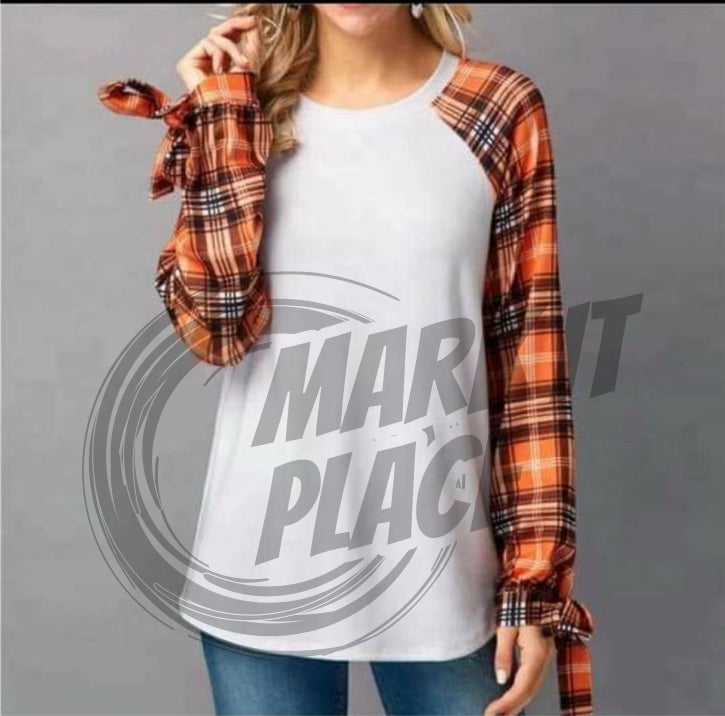 THIS IS A PRE ORDER -  FALL PLAID SLEEVE SUBLIMATION SUITABLE