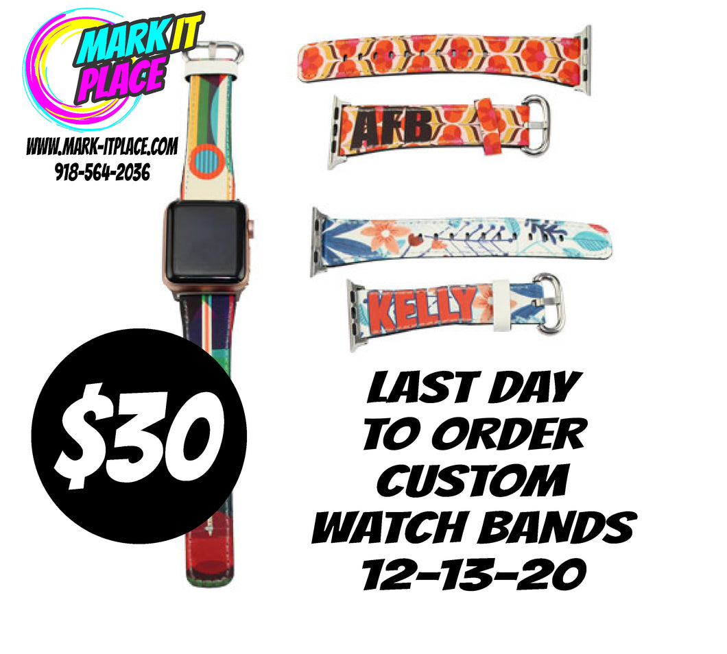 Sublimated Watch Band