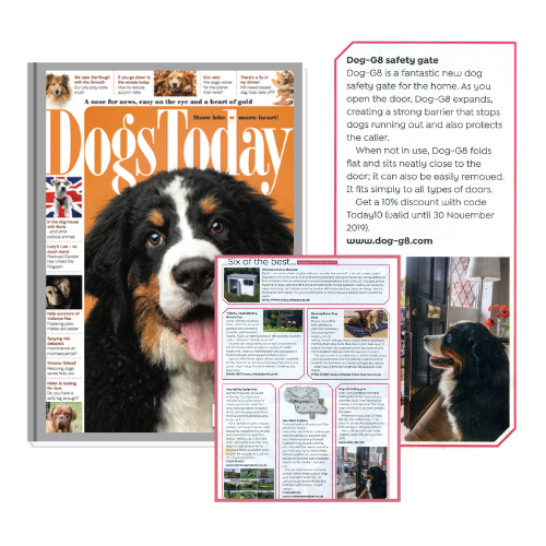 Dog-G8 safety gate (Dogs Today Magazine)