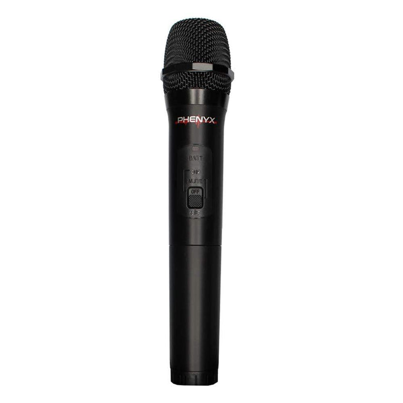 Phenyx Pro VHF Handheld Microphone Transmitter Compatible with PTV-2000, Channel A (Black)