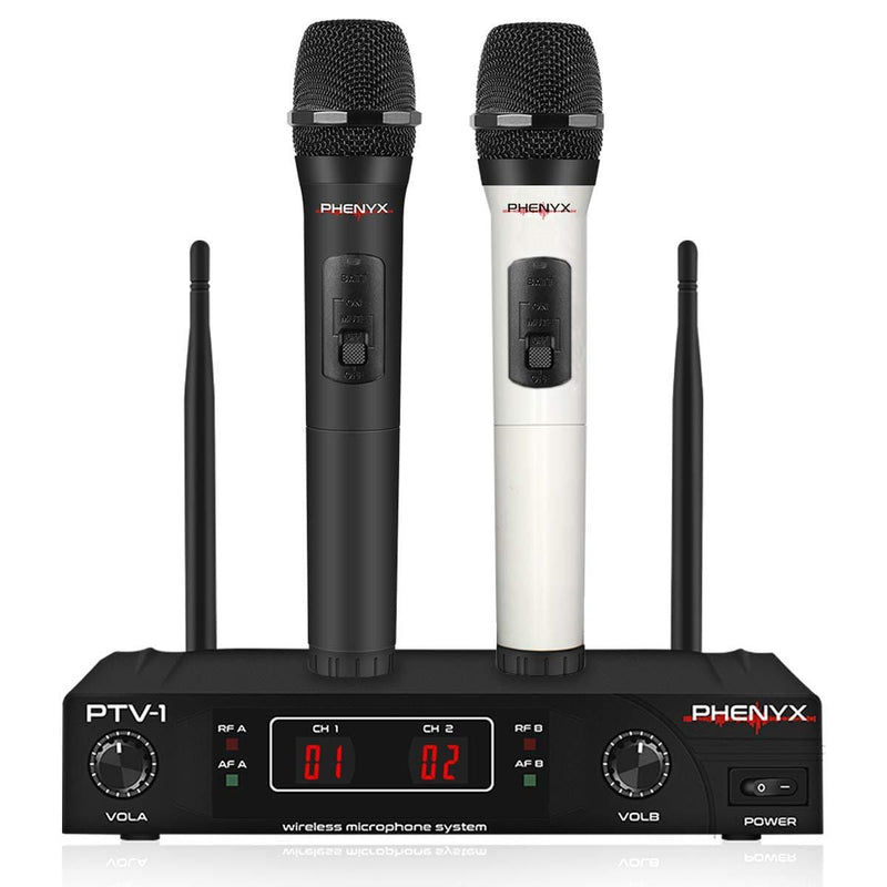 Phenyx Pro PTV-1A Dual VHF Wireless Microphone System (Fixed Frequency Design)