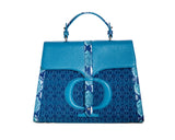 The Large Safia Satchel bleu