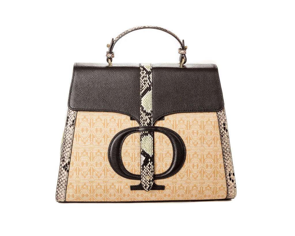 The Safia Satchel Black - FULANI