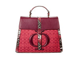 The Large Safia Satchel burgundy - FULANI