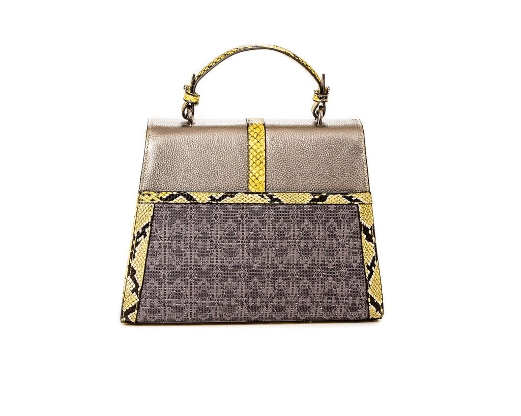 The Small Safia Satchel silver - FULANI