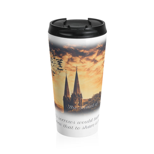 'THE SHAWL OF GOLD' Quote Travel Mug