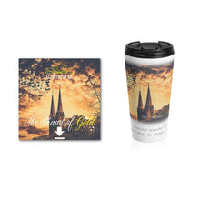 Load image into Gallery viewer, 'THE SHAWL OF GOLD' Digital Download* + Quote Travel Mug Bundle