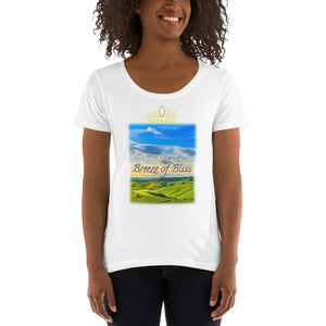 'BREEZE OF BLISS' LADIES T-SHIRT / White