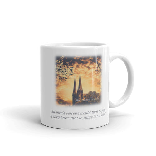'THE SHAWL OF GOLD' Quote Mug