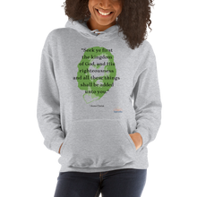 "Load image into Gallery viewer, ""SEEK YE FIRST"" UNISEX HOODIE"