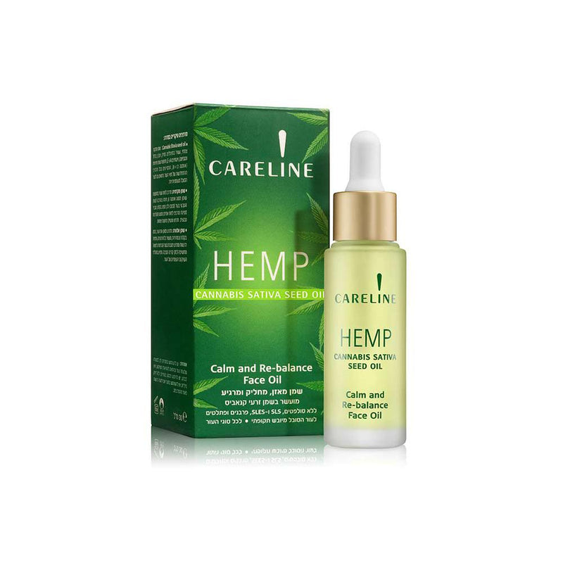 Careline Hemp Cannabis Sativa Seed Face Oil, 30ml