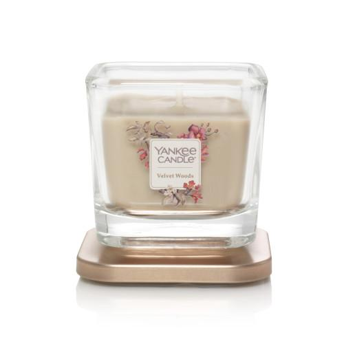 Yankee Candle Small 1-Wick Square  Candle - Velvet Woods