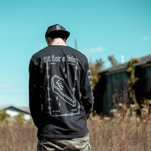 Dark Skies Black Long Sleeve Shirt