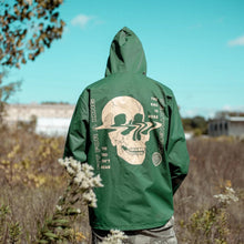 Load image into Gallery viewer, Skull Forest Green Windbreaker