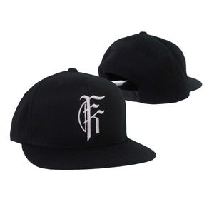 Silver Icon Logo Black Snapback Hat