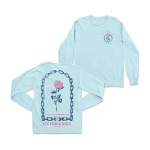 Breaking The Mirror Light Blue Long Sleeve