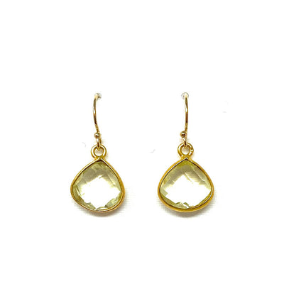 Bezel Gem Earrings