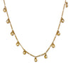 Gold Seashell Pearl Necklace