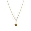 Gold Eye of Protection Heart Necklace
