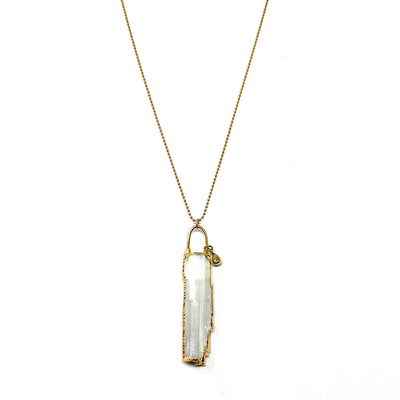 Selenite + Gold Necklace
