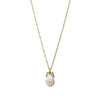 Mother of Pearl Pineapple + Gold Necklace