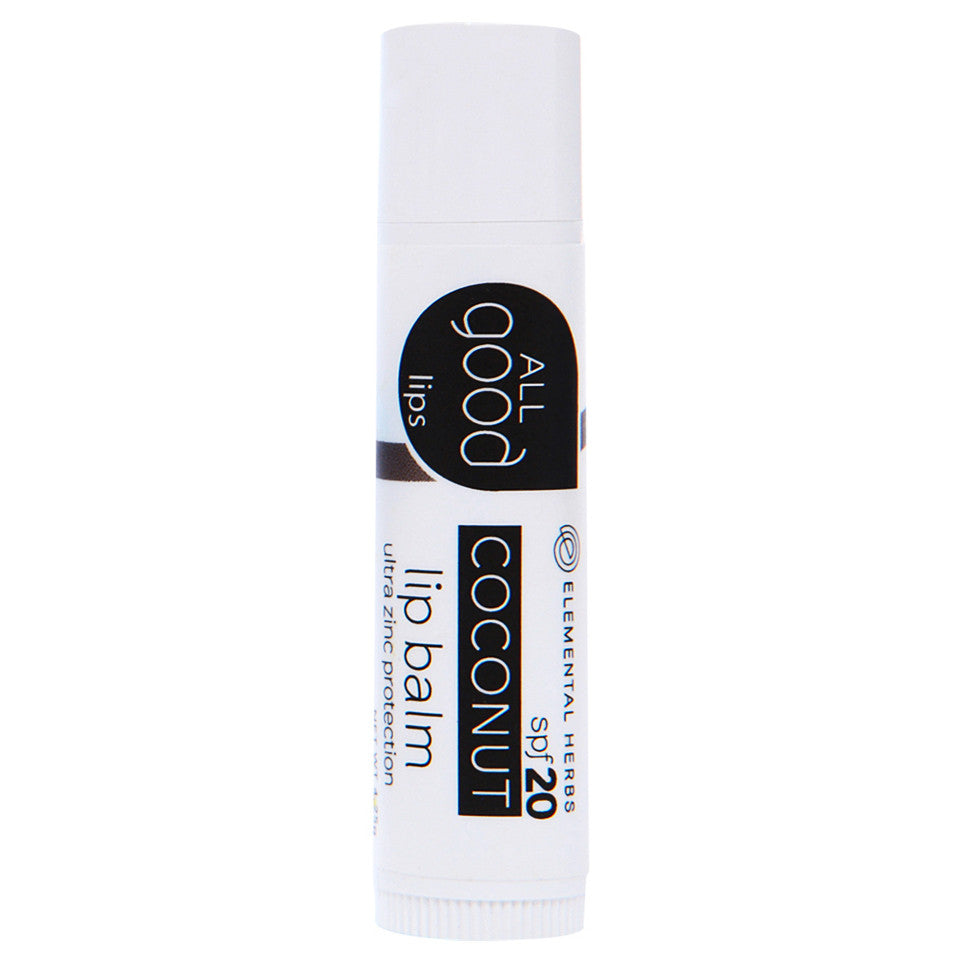 Elemental Herbs All Good Lips spf20 Lip Balm Coconut