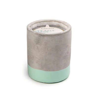 Paddywax Urban Concrete 3.5oz Candle Sea Salt and Sage
