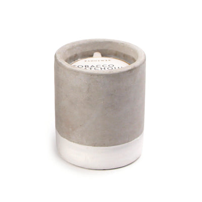 Paddywax Urban Concrete 3.5oz Candle Tobacco Patchouli
