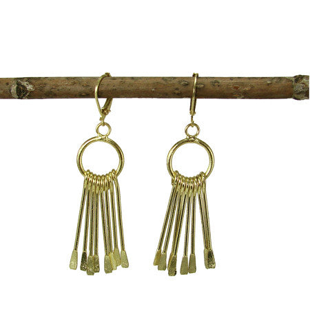 WORLD FINDS - Chime Earrings Gold - The Nature of Beauty